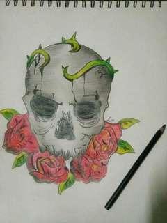 Artwork handmade sketch