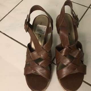 Brown Sandal Wedges