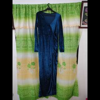 Evening gown, w/slit