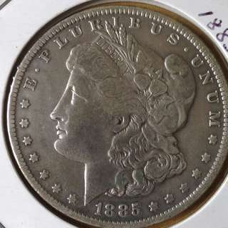 1885'o' Morgan dollar