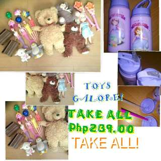 SALE TAKE ALL TOYS AND TUMBLER 2PCS Now 199 NA LANG