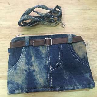 Maong sling bag for girls