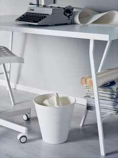 IKEA White Plastic FNISS Waste Wastepaper Waste Paper Laundry Clothes Hangers Toys Multipurpose Multi Purpose Bin Basket