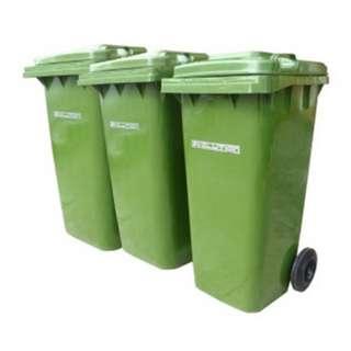 Mobile Garbage Bin 2-Wheel (120 / 240 / 360 Liters)
