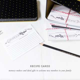 MOTHER-TO-BE RECIPE CARDS