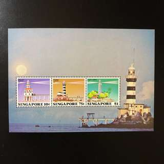 Miniature Sheet Stamp - Singapore 1982 - Lighthouse