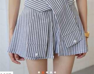 🚚 條文假兩件顯瘦褲裙
