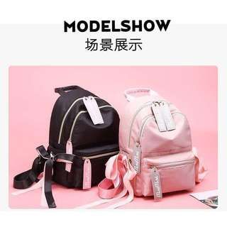 K-Backpack Trendy Ribbon Accent