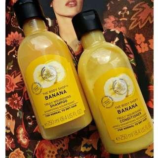 Body Shop Banana Shampoo and Conditioner