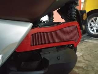 BMC Air Filter installed on Yamaha Xmax 300