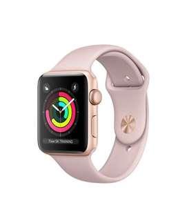 Apple Watch series 3 GPS 38mm Gold Aluminum + Pink Sand Sport Band