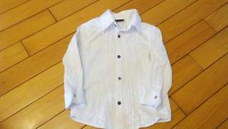 贈送  童H&M 白色 襯衫