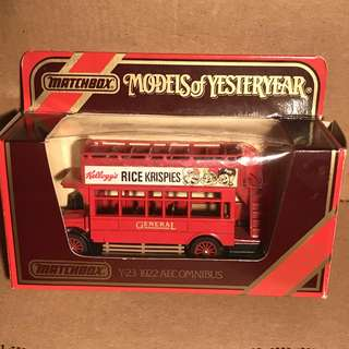 Limited Edition Matchbox Model of Yesteryear Y23 1922 Aecomnibus