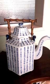 Blue & white large teapot