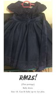 Baby girls dress (navy blue)