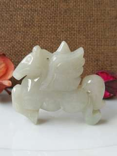 $48 Fixed Sales Type A Natural Jadeite Jade 6D Flying Horse Display Pendant