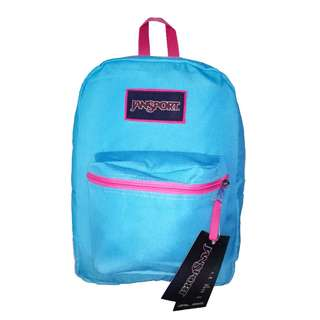 JanSport Bag - Overexposed  (Pink on Mammoth Blue)