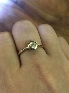 18k real gold ring