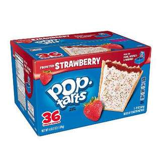 Kellogg's Pop Tarts Frosted Strawberry 36ct