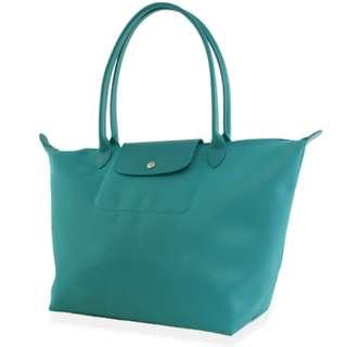 turquoise longchamp bag