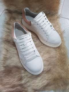 Authentic Alexander McQueen Ladies Pink/White Sneakers Size 39 to 40