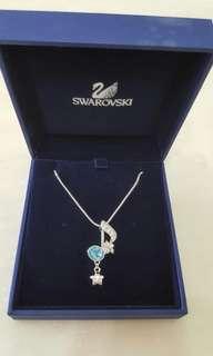 Swarovski 藍水晶音符頸鏈