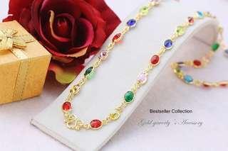 necklace Gemstones Nine colors