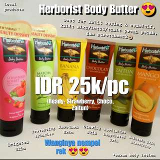 (RAMADHAN SALE) HERBORIST BODY BUTTET AND CREAM ORIGINAL LOCAL PRODUCTS READY STOCK STRAWBERRY ZAITUN CHOCOLATE