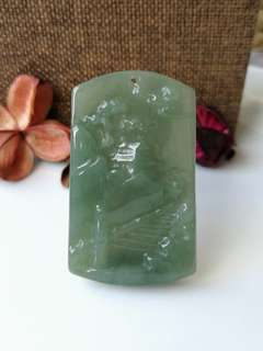$88 Fixed Sales Beautiful Scenery Type A Natural Jadeite Jade Pendant