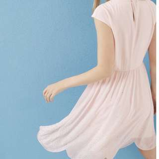 Ted Baker BNWT (never worn) scallop hem dress - baby pink - US size 2