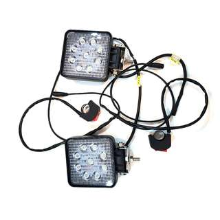 LED Fog Light 12V 3600 Lumens 30W (1 Pair) With Wire and On/Off Switch, (Sell Individual also) for Escooters / Ebike