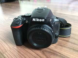 Nikon D5500 Body + 2 batteries + bag