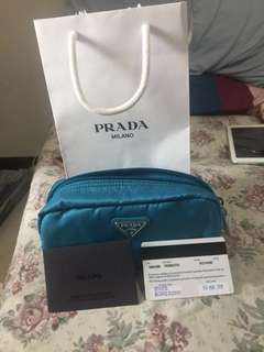 BRAND NEW 💯 % GUARANTEED AUTHENTIC PRADA POUCH COMPLETE