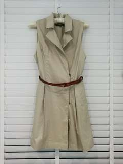 Khaki trench coat dress