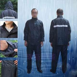 【瑞新小舖】現貨 整套 衣+褲 兩件式雨衣 機車雨衣超輕防水防風反光雨衣+送精緻小錢包一個