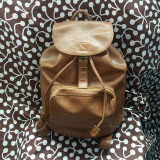 JAPAN LEATHER BACKPACK! (BROWN)