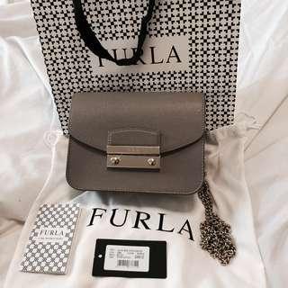 Furla Julia Mini Crossbody Grey
