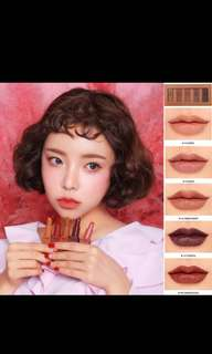 3ce lipstick set pumpkin series nude Series set of 5