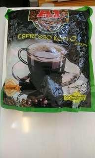馬來西亞 A1 即溶黑咖啡 3合1