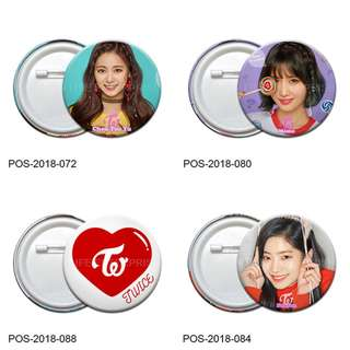 KPOP Twice Pin Button Badge Batch 2 (Ø58mm)