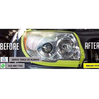 HEADLAMP POLISH+COATING HOME SERVICE
