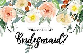 Wedding card - Will you be my bridesmaid?