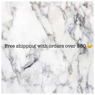 FREE SHIPPING ORDERS OVER $30
