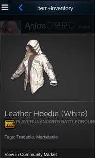 Pubg white hoodie