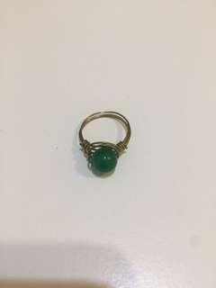 綠瑪瑙介子 green agate ring
