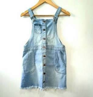 Denim Buttondown Jumper Skirt