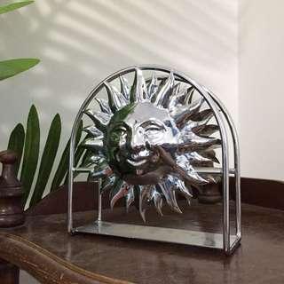 Silver Sun Napkin / Letter Holder