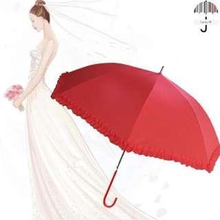 結婚用品全新新娘出門紅傘雨傘太陽傘傳統褂傘