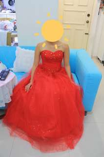 Wedding Gown Evening Gown Red