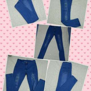 High Waist Honor Jeans Ripped Pants
